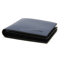 Bifold fashion dark blue leather short pattern japanese mens wallets
