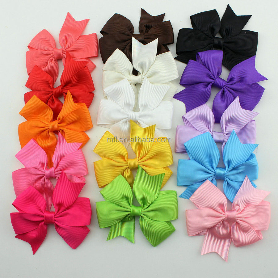 Wholesale polyester grosgrain colorful outdoor decorative christmas bow