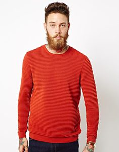 Man's soft ribbed knit Crew neck Long Sleeve OEM Promotional Jumper Sweater