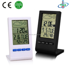 Clock humidity and temperature meter,Weather Station Supplier