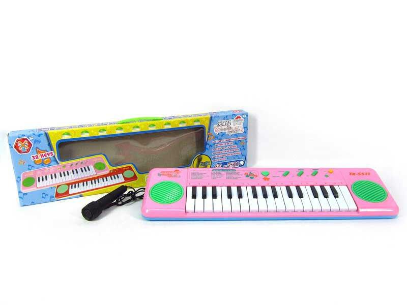 Portuguese Learning Toys : Key Órgão eletrônico w microfone brinquedos educativos