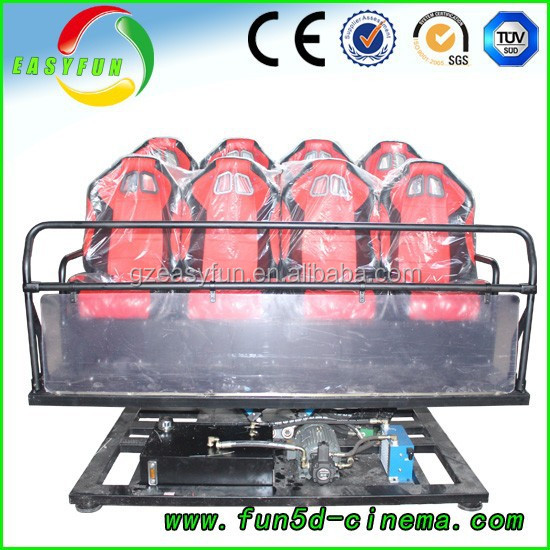 Game machine Hydraulic/ servo motor 4 seats 5d cinema and home entertainment seating