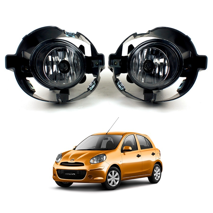 Clear lens Car Fog Lights Lamp Replacement <strong>For</strong> NISSAN