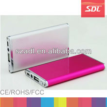 2014 Slim portable power bank 2500mah for Samsung galaxy S5 , External li-polymer battery Charger , Led Mobile Power bank