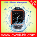 Micro sim card watch phone Sultra W08 IP68 Waterproof touch screen mobile dz09 smart watch