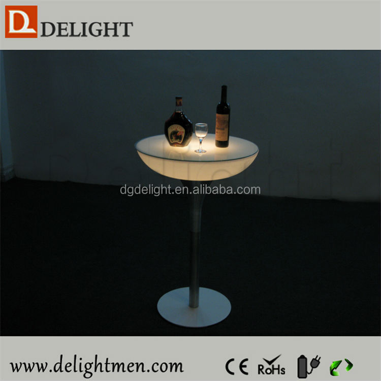 Outdoor color change led illuminated table/ led light cocktail table/ led high top light bar