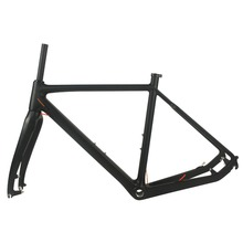 ORGE Full Carbon Cyclocross Frame fitted Disc brake Clear Coating Road Bike Frame