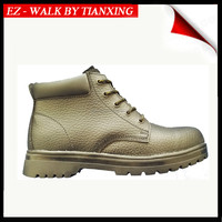 BLACK LEATHER SAFETY SHOES WITH STEE TOE