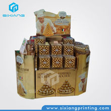 corrugated paper pallet display for Chocolates