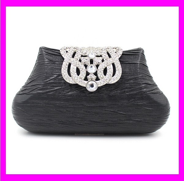 JD1041 High quality white crystal stone black trendy clutch bag ladies evening party bag wholesale