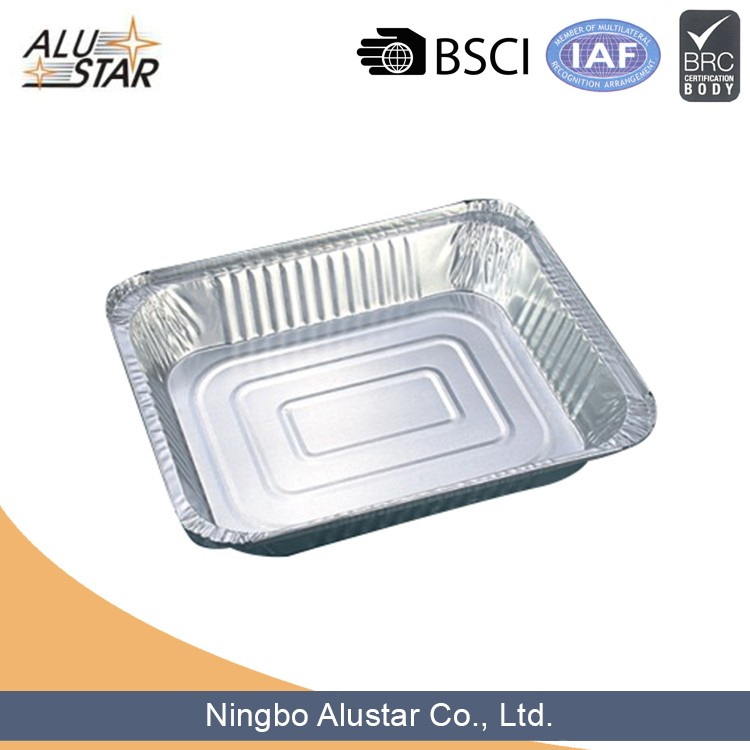 Oven safe takeaway food disposable airline aluminium foil food container