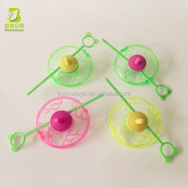 Promotional Gyroscope Toys Spinning Top Plastic Peg-top Giveaways for Kids