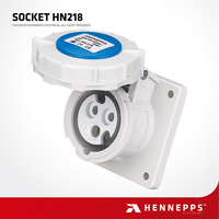 HENNEPPS China IP67 230V 3 Pin 6h Electrical Socket Industrial universal Flameproof Waterproof AC Power Socket Female