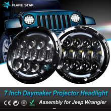 7Inch Daymaker Projector LED Headlight with High/Low Beam Assembly for JK & Motorcycle