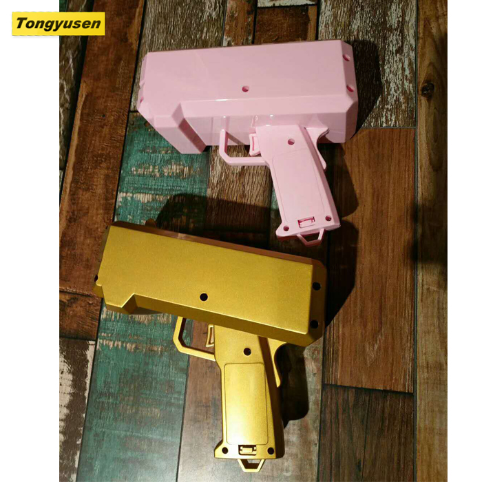 2017 New Products Dollar/Euro paper Money gun Party toy cash cannon gun