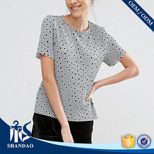 Guangzhou Shandao OEM Cheap 120g 60 cotton 40 polyester O-neck Short Sleeve tren t shirt
