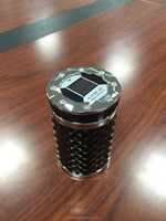 Fancy Portable solar Ashtray wite LED and Diamond for car and multi-place