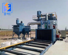 Pretreatment line shot blasting machine for steel plates