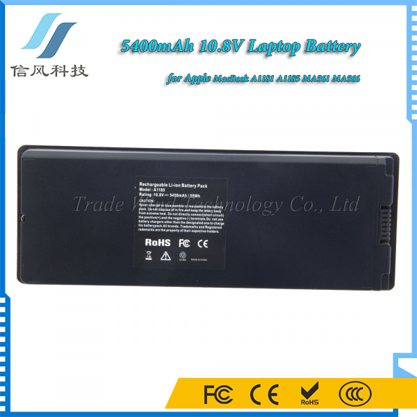 "13"" 13.3"" 5400mAh 10.8V for Apple MacBook A1181 A1185 Battery Black"