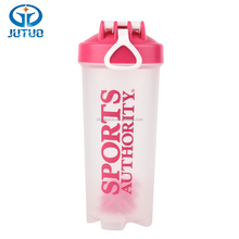 Jutuo China Disney Audited manufacturer 30oz BPA free transparent plastic protein shaker bottle with mixing ball