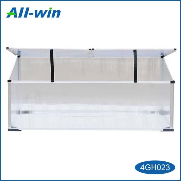 outdoor high-quality aluminium polycarbonate garden greenhouse of cold frame