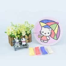 wholesale umbrella KT Circular fill color swatches/ kids art set gift for young children