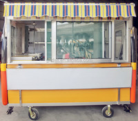 2016 hot selling factory price moving food cart, outdoor food cart, custom made food cart