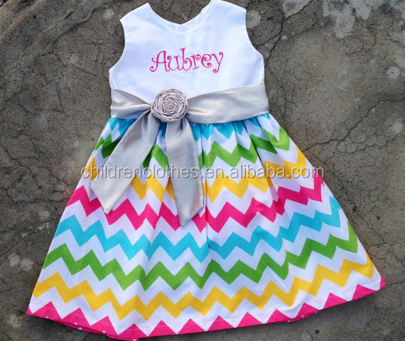 Summer Fashion Dresses Baby Girls Birthday Flowers Girls Vinage Garden Style Frocks