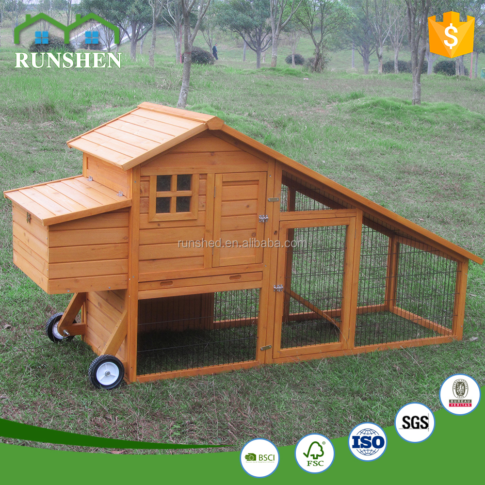 Design Hot Sales Large Wooden Pet House Chicken House with wheels