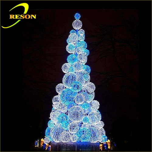 Party decorations outdoor christmas light led cone tree for How to decorate outdoor trees with lights