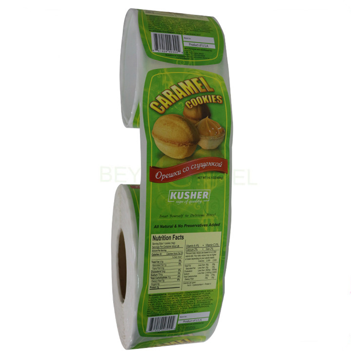Custom Glossy Paper Frozen Food Packaging Label Printing Bakery Labels