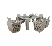 Sigma outdoor cafe furniture patio furniture dining sets rattan table and chairs