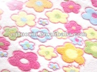 sunflower printed coral fleece fabric/rainbow fleece fabric/various colour fabric