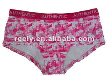 Sexy women short panties with AOP print in pink color