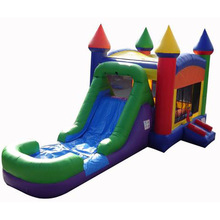 commercial grade rainbow inflatable bouncer jumper/ jumping bouncy castle/ moon bounce house slide combo manufacturer China