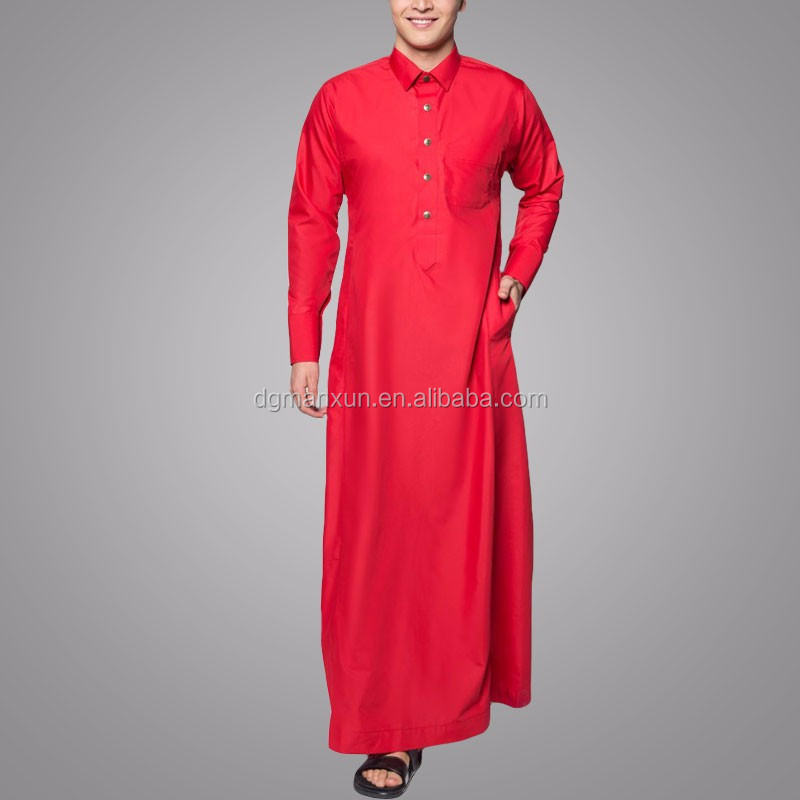 Islamic Clothing Wholesale Muslim Jubah 2018 Kameez Design Men Push Button Collar Jubba Designs For Men