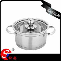 stainless steel 201 thin handles induction korean mini cooking pot cookware set