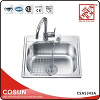 Italian Stainless Steel Kitchen Sinks With Wire Basket Parts