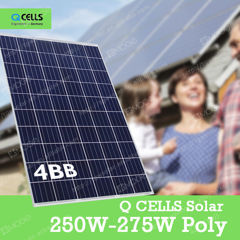Q-CELLS A grade in stock the poly 250w-275w solar panel module