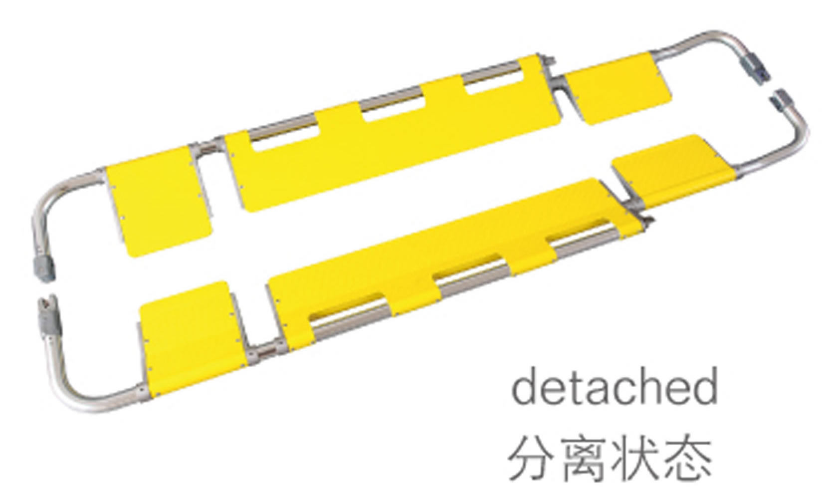 EDJ-001B2 Hot-selling folding stretcher/scoop stretcher/folding stretcher hospital equipment