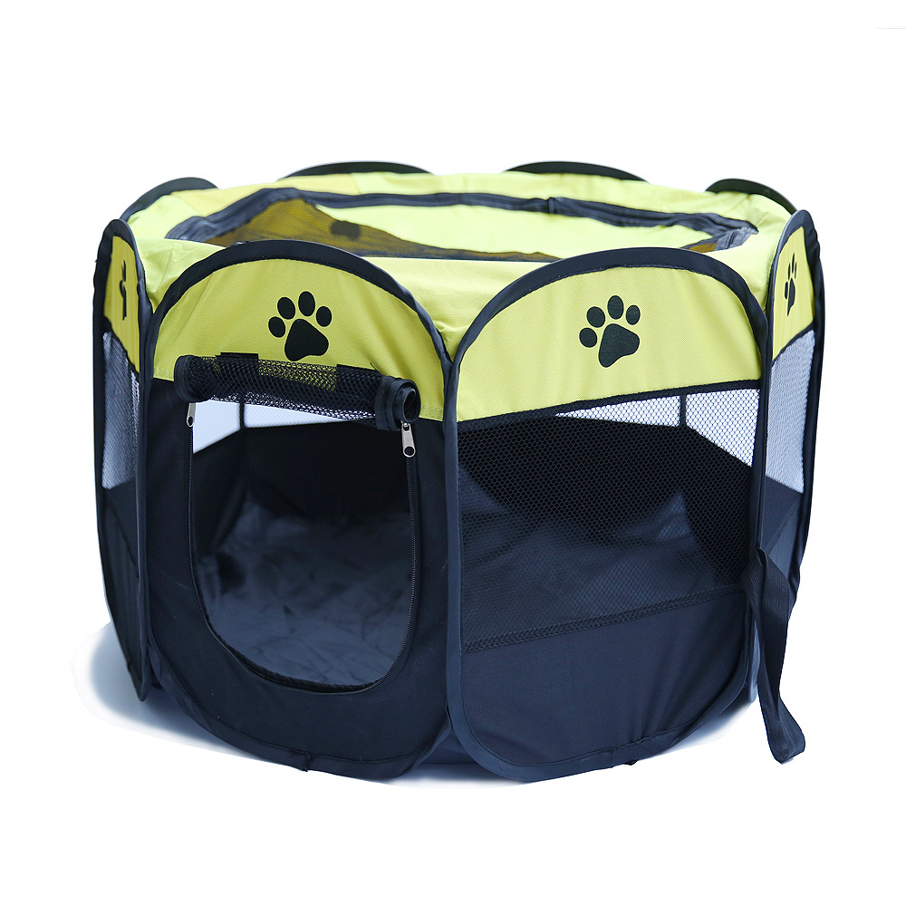RoblionPet Outdoor Foldable Pet Dog Fence, Camping Portable Dog Fence