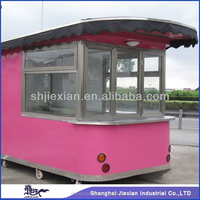 2015 Shanghai Newly design Fast fish and chips machine equipped coffee trailer
