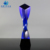 Factory Direct Sale blue crystal trophy award for souvenir
