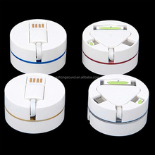 Concealed extension 3 in 1 usb charging cable for Phone 4/5 5s/6 6 Plus, Android Mobile Phones
