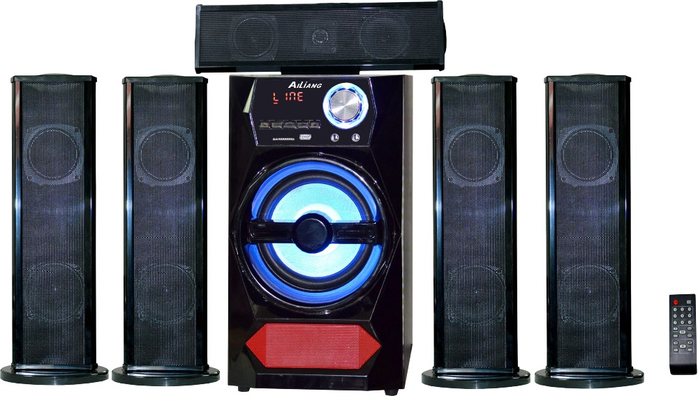 2016 new AILIANG 5.1 powerful home theater system speaker with USB SD FM- USBFM-55E/5.1