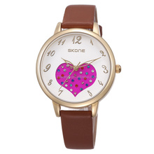 SKONE 9313 Best price Hot Selling Wholesale Beautiful Fashion Leather Watch