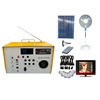 solar panel dealers solar kit with radio led bulb usb mobile charging