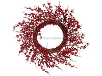 Red Berries Artificial Christmas Wreath