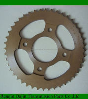 Dajin C45 sprocket motorcycle steel chain wheel sprocket of material c45 carbon steel sprocket