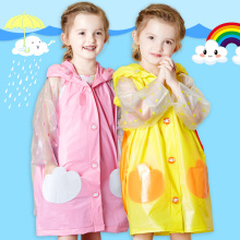 Hotsales Unique Design Poncho Cute Kids Candy Color PVC Rain Coats